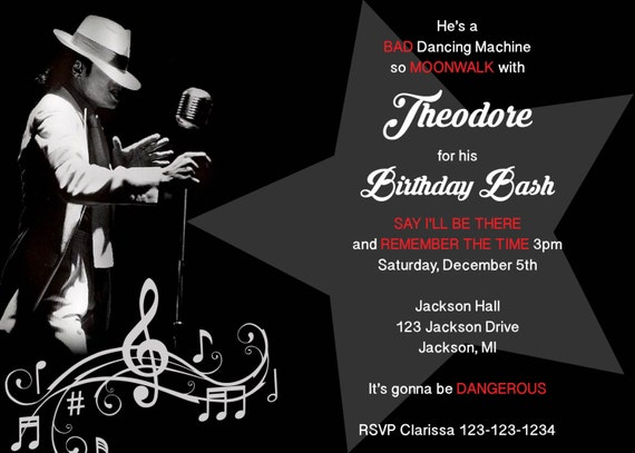 Michael Jackson Birthday Party Michael Jackson Themed Party