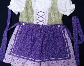 Green and Purple Baby Dirndl