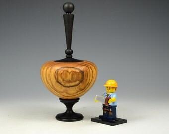 Olivewood & African blackwood wooden box, woodturning, gift, burl