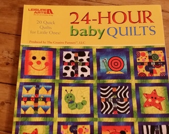DESTASH  Quilt Books.  24-HOUR baby quilts.  Assorted contributors.  20 quick, easy quilts for baby, toddler, donations, gifts.