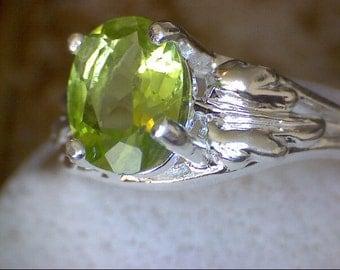 Stunning Peridot Leaf Ring
