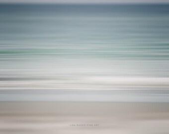 Abstract Beach Decor Print or Canvas Wrap, Modern Beach Art, Large Abstract Beach Photography, Pastel Blue White Beige Tan Grey, Nautical.
