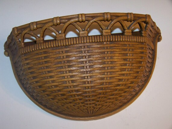 Home Interiors Wall Basket HOMCO Syrocco Retired