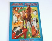 ON SALE Vintage Animal Friends Book - George Trimmer - Vintage Nursery - Animal Pictures - 1940s Vintage