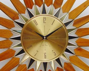Mid Century Starburst Clock, Spectacular! from Seth Thomas