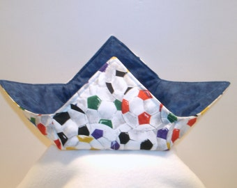 Soccer Microwave Bowl Hot Pad Cozy
