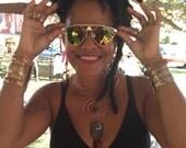 Gold Ankh Sunglasses