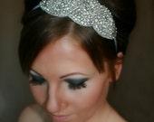 ON SALE Bridal Headband, Wedding Headband, ARIA, rhinestone headband, bridal hair piece, bridal accessory