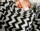 baby blanket. chevron receiving blanket. car seat cover blanket. soft jersey knit like a t-shirt. LOVE pattern with choice of chevron.