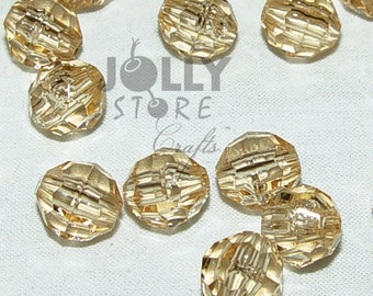 6mm Round Faceted Beads - Champagne Translucent - 500 piece bag