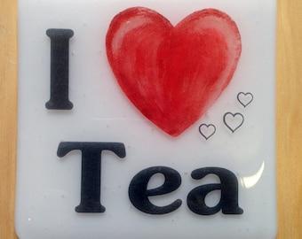 I 'Heart' Tea Coaster