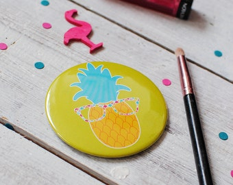 Pocket Mirror | Pineapple Mirror | Colourful Mirror | Make Up Mirror | Pineapple Pocket Mirror