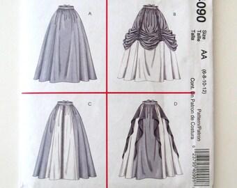 Renaissance Skirt Pattern, McCalls 4090, Womens Historical Medieval Costume Pattern, Maxi Skirt Pattern, Size 6-12 Waist 23-26.5 UNCUT