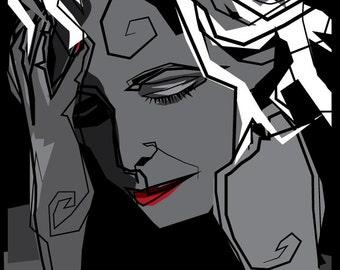 "Vector art poster ""Mylène Farmer"""