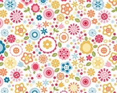 STORE CLOSING Sale Riley Blake Fine and Dandy White Floral 1 yard