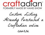 Custom Listing:  Customer previously purchased Etsy Shop Overhaul Course