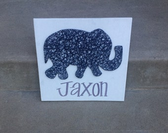 Made to order elephant string art with name