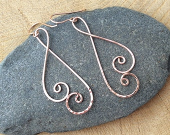 14k Rose Gold Filled Double Spiral Earrings