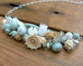 Custom order reserved for Stacy,Lampwork and Sterling silver necklace