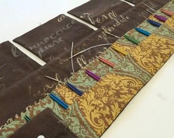 30 Pocket Interchangeable Needle Case in Beautiful Waverly Fabrics