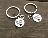 You're My Person & I'm You're Person Stainless Steel Key Chains Set of Two
