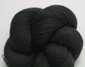 Dark Green Recycled Merino Yarn, Black Forest Extra Fine Grade Lace Weight Reclaimed Merino,  3925 Yards Available