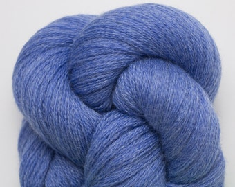 Blue Merino Yarn, Sapphire Blue Heather Recycled Extra Fine Grade Lace Weight Merino Yarn, 3136 Yards Available