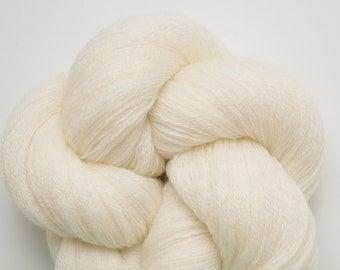 Vanilla Cream Recycled Merino Lace Weight Yarn, Cream Merino Yarn, Ivory Merino Yarn