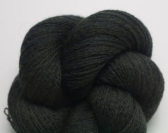 Dark Green Recycled Merino Yarn, Black Forest Extra Fine Grade Lace Weight Reclaimed Merino,  3594 Yards Available
