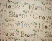 Spring Fabric By The Yard Susan Winget Collection Garden Words Nature Thoughts Quilting Sewing Fabric