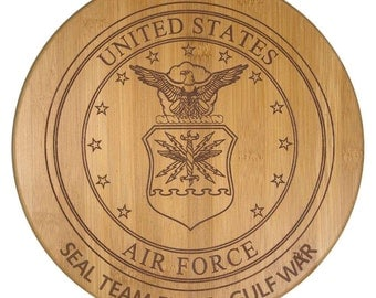 Custom Bamboo Air Force Cutting Board - Bamboo Cutting Board - Wedding Gift, Couples Gift, Anniversary Gift, Veterans Gift, Air Force Gifts