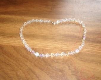 vintage necklace aurora borealis glass choker
