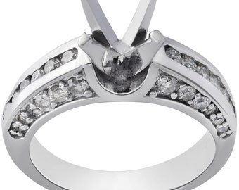 Diamond Semi Mount Engagement Ring Setting 1ct Diamond Semi Mount Engagement Ring Setting 14K