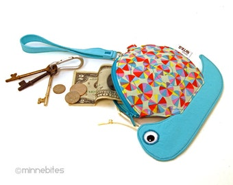 Snail Pouch by MinneBites / Handmade Snail Purse - Toddler Gift - Girls Wristlet - Cute Snail Coin Purse - Pouch for Girls - Ready to Ship