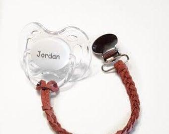 Pacifier Clip Leather Pacifier Clip Leather Pacifier Holder Pacifier Holder Pacidoodle Baby Pacifier Clip Custom Baby Gift Leather Clip