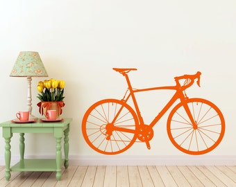 Road Bike vinyl Wall DECAL- bike  invention, old world interior design, sticker art, room, home and business decor