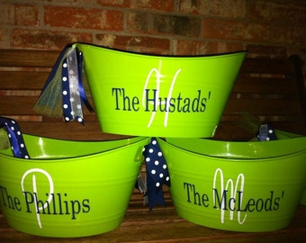 Personalized Easter Basket-Hostess Gift-Birthday Gift-Ice Bucket-Teacher Gift-Best Friend Gift