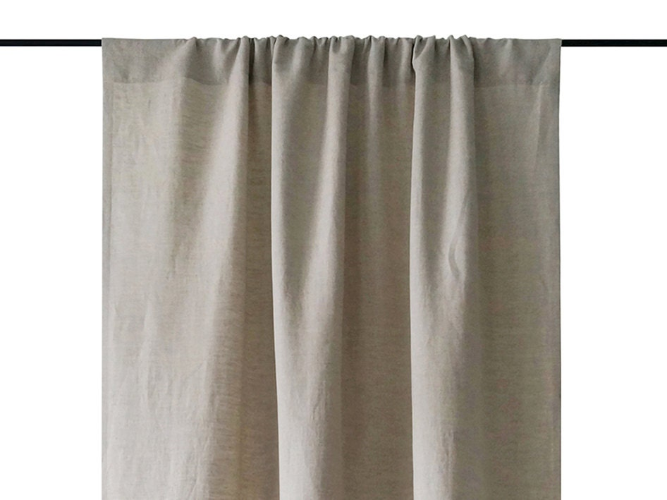 Linen Curtains Custom Color Color Block Curtain By