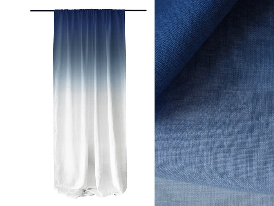 the best 28 images of blue ombre curtains