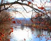 Maury River in Winter, near Lexington, VA, 8 x 10 fine art photo, signed