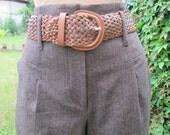 RESERVED Wool Pants / Woolen Pants / Browm Pants / Wide Leg Pants / Women Trousers / For Tall Girls / Size EUR38 / UK10