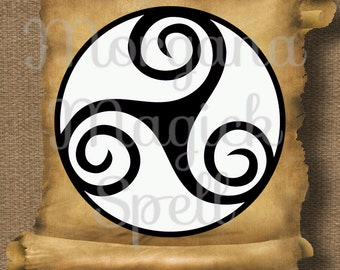 WHITE TRIQUETRA Pagan Royalty Free Clipart Illustration Wiccan Digital Image Download Printable Graphic Clip Art Transfers Prints