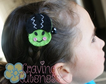 Halloween Hair Clip - Meet Miss Frankenlady - Adorable