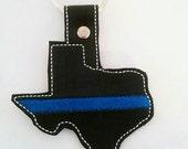 Thin Blue Line Texas Key Fob