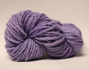 Single Ply Yarn Merino Slub Hand Dyed 44sp15015 Lavender Gray