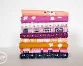 Penny Arcade Half Yard Bundle, 5 Pieces, Kim Kight, Cotton and Steel, RJR Fabrics, 100% Cotton Fabric