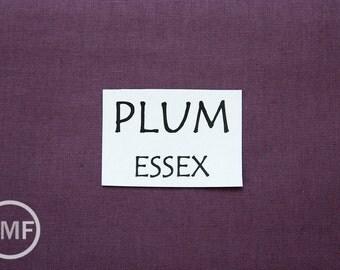 One Yard Plum Essex, Linen and Cotton Blend Fabric from Robert Kaufman, E014-1294