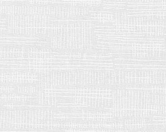 Carkai Stitches in White, Carolyn Friedlander, Robert Kaufman Fabrics, 100% Cotton Fabric, AFR-15796-1 WHITE