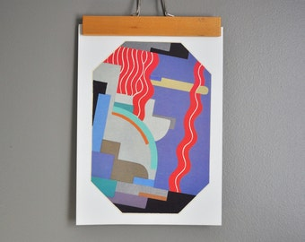 Vintage Abstract Art Print - Ad and MP Verneuil - Pochoir Plate