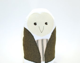Oren the Owl, ecofriendly owl, recycled, organic stuffing, owl, woodland toy, baby toy, baby safe